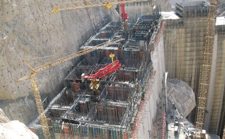 پروژه سازه آبگیر نیروگاه سد کارون 4